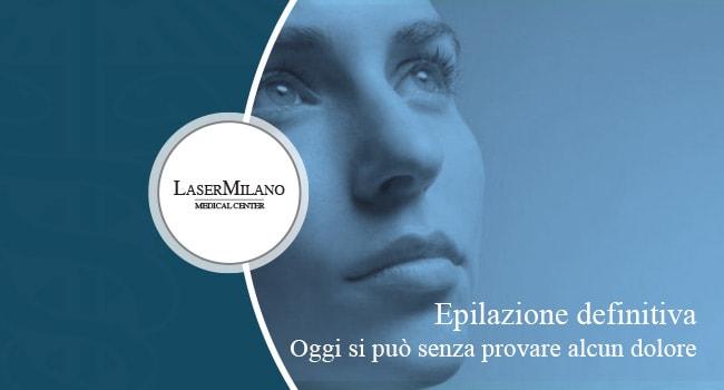 epilazione laser senza dolore