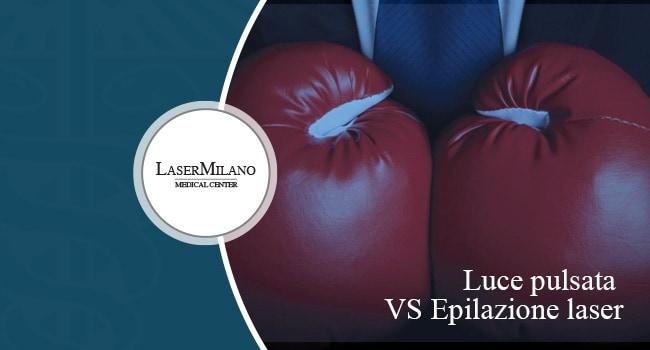 confronto tra luce pulsata ed epilazione laser
