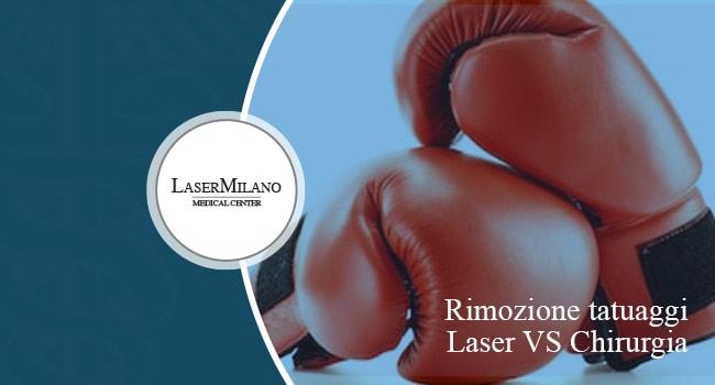 laser contro chirurgia estetica per la rimozione dei tatuaggi