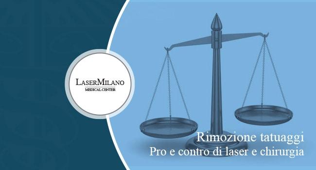 pro e contro della rimozione tatuaggi laser e chirurgica