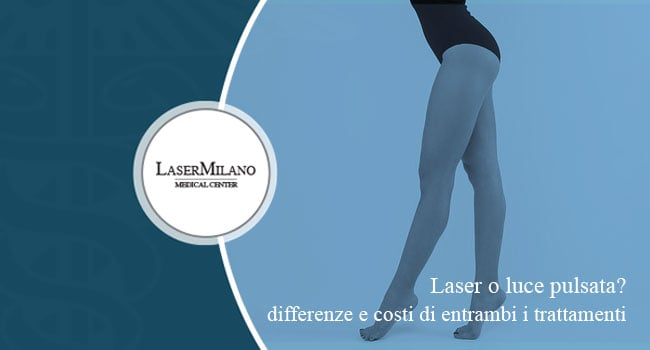 luce pulsata o laser differenza