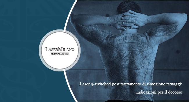 Laser q-switched usato per la rimozione tatuaggi