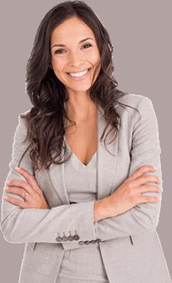 Businesswoman di fronte che consiglia LaserMilano
