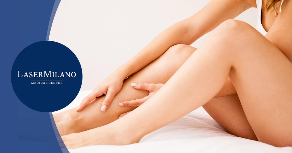 gambe lisce depilate